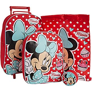 61uy8BzPu5L. SS324  - Walt Disney Juego de Equipaje Infantil, diseño de Minnie Mouse