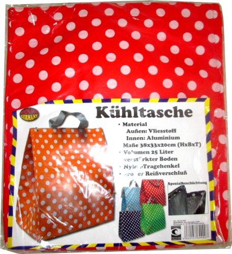 25 Liter-Kühltasche 38 x 33 x 20 cm mit Kühlakku (rot)
