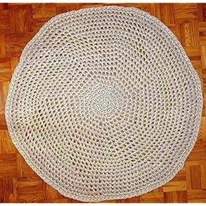 Teppichläufer/Teppich/Läufer/für Flur, Diele, Wohnzimmer/Teppich rund/Ø ca. 96 cm. / beige