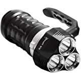 ThorFire S1 Unterwasser Taschenlampe, 3200 Lumen 70m Tauchen Taschenlampe LED Taucher Lampe Mit 3 LED Leistungsstarke Licht Submarine Licht Geeignet für 4 * 18650 Akku (Nicht Enthalten)