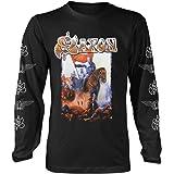 Saxon 'Crusader' (Negro) Camisa de Manga Larga
