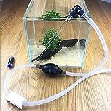 Fish Tank Siphon Handpumpe Aquarium Kies Reiniger Wasser Changer Sand Waschen Quick Release Abtropfgestell Tools Saugrohr Wickeltasche von Kot
