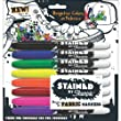Sanford Stained By Sharpie Fabric Markers 8/Pkg Assorted Colors