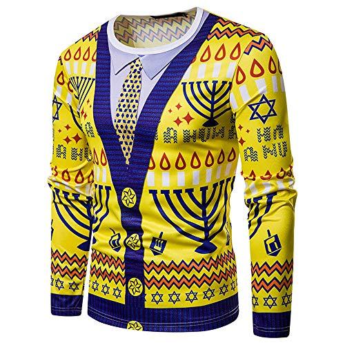 Weihnachten Herren Pullover, JiaMeng Weihnachten Tie Print Tops Top Langarm-T-Shirt Bluse