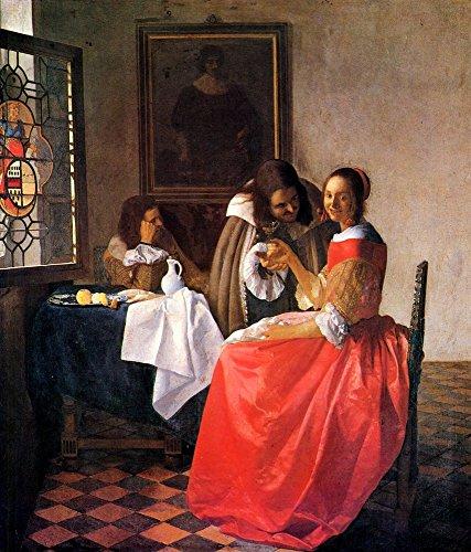 Das Museum Outlet-Girl With A Wein Glas von Vermeer-Leinwanddruck Online kaufen (101,6x 127cm)