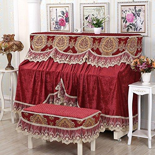Europäische Spitze Chenille Gewebe Staubdicht Klavierbezug luxuriös Klavier-Set (zwei Sets) ( Color : 8 ) - Luxuriöse Set