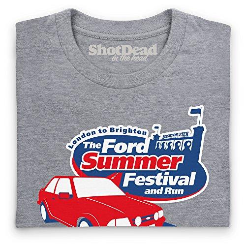 The Ford Summer Festival T-Shirt, Herren Grau Meliert