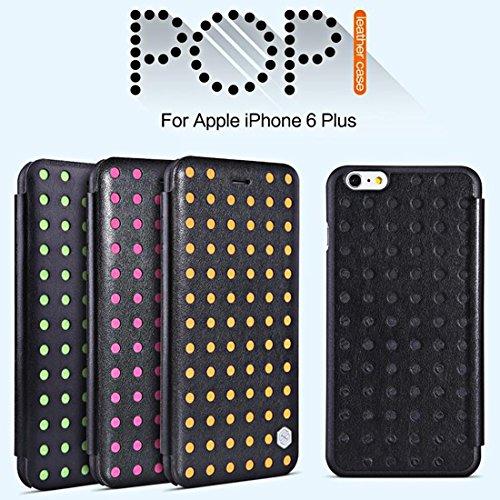 IPhone 6 Plus & 6s Plus Koffer NILLKIN R61 Textur Höhle-out Hit Farbpunkte POPI Ledertasche mit Kartensteckplatz, befestigt mit PET Display Schutz & Staub Absorber & Reinigungstuch für iPhone 6 Plus & Green