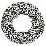 Intermoda XXL Leoparden Loop, Tiger Schlauchschal I All Over Leoparden Print I Hochwertige Qualität, Tuch, Damen, Schwarz Weiß