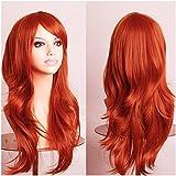 S-noilite® Women 23Inch Long Layer Full Head Wigs Cosplay Costume Party Fancy Dress Orange