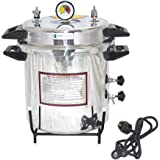 IS IndoSurgicals Autoclave Aluminium Pressure cooker type, Mirror Finish, Electric ( Capacity and Size approx. 21 Ltrs…