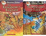 Geronimo Stilton - The Kingdom of Fantasy + The Volcano of Fire: 5 Geronimo Stilton (Set of 2 Books)