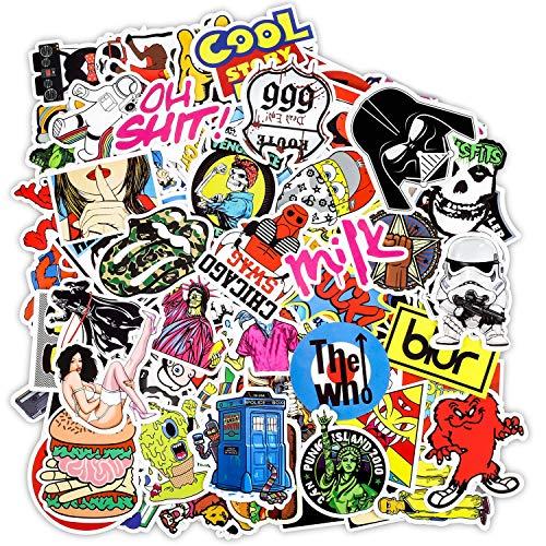 PAMIYO Adesivi Stickers, confezione da 100 Stili Diversi Graffiti Decals per Auto Automezzi skateboard bicicletta, barche PC Portatilie Abbellir Bagaglio
