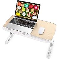 TaoTronics Table de Lit Réglable Support Ordinateur Table Pliable pour PC Lecture Travail et Repas au Lit, Bureau, Sofa…