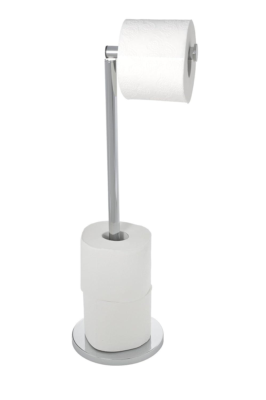 Wenko 19637100 Freestanding Toilet Roll Holder 2 In 1, Stainless Steel,  255 X 54 X 18 Cm, Shiny: Amazon: Kitchen & Home