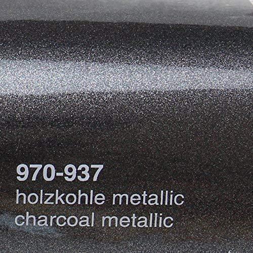 Oracal 970RA 937 Holzkohle Metallic Glanz gegossene Profi Autofolie 152cm breit BLASENFREI mit Luftkanäle -