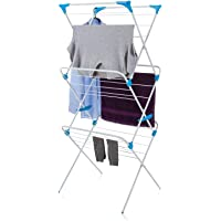 CLASSY 'N' COZY Arier Cloth Drying Stand/Foldable drying Racks/Rust Proof Cloths Drying Stand (WHITE)