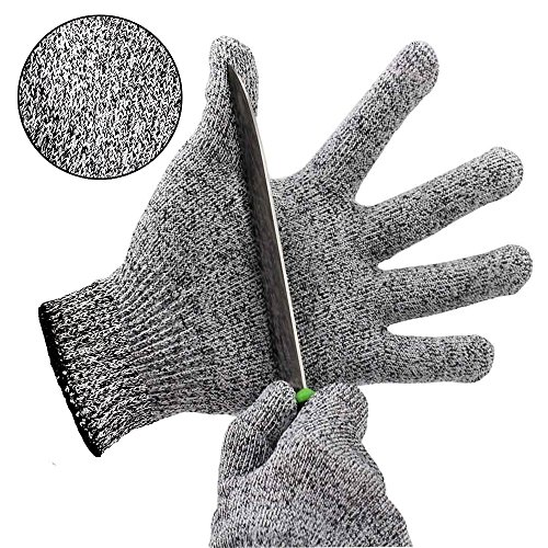 Schnittschutzhandschuhe Kinder k�che Hochleistung Schnittschutz Handschuhe Leicht 5 Handschutz Ebene lebensmittelecht schnittfeste Handschuhe (S)