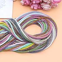 JuneKama Envoltura de Cables de 1,4 m para Auriculares y Cables de Carga Protector Prevent Tangles-Random