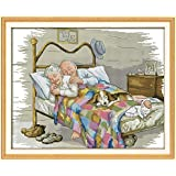 The Old Married Couple Counted Cross Stitch 11CT Printed DMC Cross Stitch Set DIY Cross-stitch Kits Embroidery Needlework