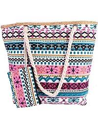 Scothen Grand Sac de plage / sac à provisions sac de plage Bohême sacs à main occasionnels ethnique sac de plage sac à main Satchels épaule Totes Sac en toile sac en toile classique BgfWQfm