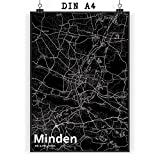 Mr. & Mrs. Panda Poster DIN A4 Stadt Minden Stadt Black -