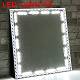 LED Vanity Mirror Lights Kit Ollny Hollywood Style Lighting Fixture Strip Stick on Dimmable for Makeup Vanity Table Set in Dressing Room 6000K White Light 3M 60 Led Bulbs(Mirror not Included)