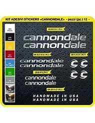 Cannondale Código 0089 Kit de adhesivos para bicicleta, 12 unidades, Hombre, Argento cod