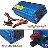 Yinleader Wechselrichter für Auto, Boot, 800 W / 2000 W (Spitze), Reiner Sinuswelle Wechselrichter, Softstart, DC zu AC 12 V zu 230 V, 240 V Konverter
