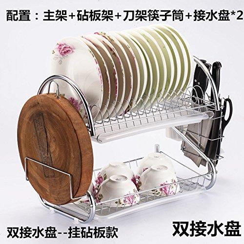 clg-fly acciaio ciotola doppia porta tastiera Lek Yuen Acqua cucina rack in una lavastoviglie Rastrelliera Scolapiatti, Scaffale, # 9con alta qualità