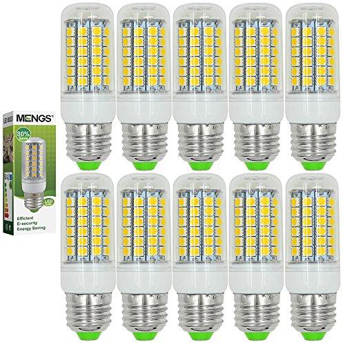 10X MENGS® E27 LED Lampe 6W 8W 9W 12W AC 220-240V Warmweiß 3000K SMD
