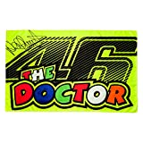 VR46 Rossi the Doctor Signature Flag, Yellow, One size