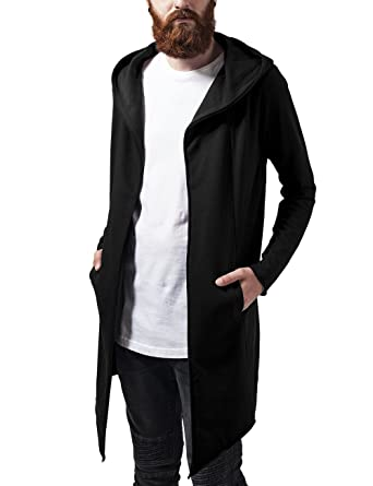Urban Classic Men's Long Hooded Open Edge Cardigan: Amazon.co.uk ...