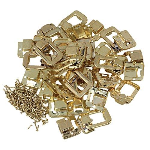 BQLZR amarillo hierro Vintage catch lock gancho Latch hasp para joyas caja de madera, pack de 10