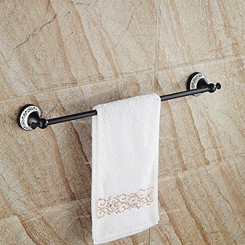 Hiendure® 60cm Messing Wandhalterung Bad Toilette Handtuchhalter Handtuch Regal, Öl eingerieben Bronze Öl Antik-möbel