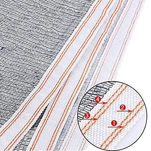 HSBZ SchattierungstuchReflektierende Aluminiumfolie mit Ösen 99{14ae977e1446421479980fc2c7ea0e991005b07618029a5182206f4c6e6705e5} UV-beständige Sonnenschutzabdeckung für Garten/Terrasse (Größe: 3x7m)@4x6m