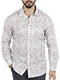 Aady Jones White Floral Printed Cotton S...