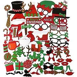 PBPBOX Photo Booth Neujahr 62 Stück für stimmungsvolle & witzige Bilder zum Party, Neujahr, die sich auch hervorragend als dekoratives Element eignen