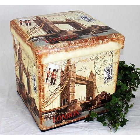 Sgabello in similpelle Seduta-sgabello 2216 Pacco d'imballaggio 40cm Cubo-seduta Cassa Cesto
