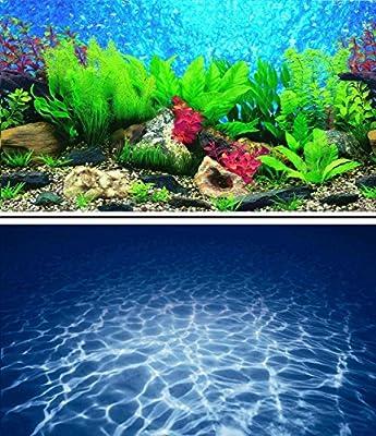 """16"""" (40cm) Double Sided Scenic Aquarium Background Picture for Fish Tank Reptile and Vivarium ..."""