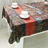 GY & H Baumwolle und Leinen Tischdecken Retro Folk Wind Multi–Tischdecke Home Universal Staub, Farbe, 140* 180cm