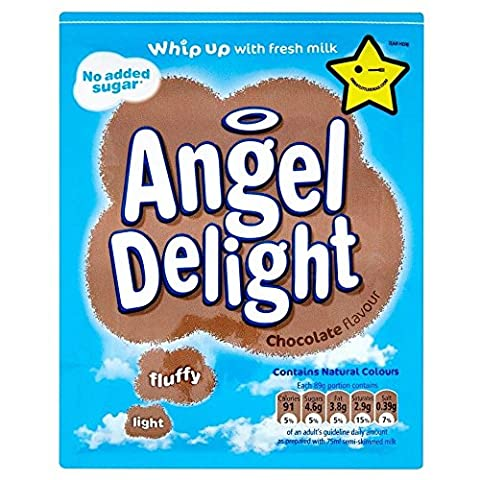 Angel Delight Chocolate Flavour No Added Sugar (47g) - Pack of 6