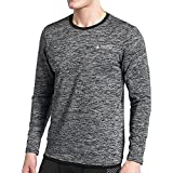 AMZSPORT Herren Cool Kompressionsshirt Funktionshirts Langarm Unterwäsche Fitness Baselayer Shirts for Running Gym Cycing SIZE XXL