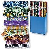 6er Rollen Set Graphic Mix Geschenkpapier 200 x 70 cm verschiedene Designs