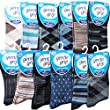 12 Pairs Mens Gentle Grip Mega Mix Honey Comb Non Elastic Socks 6-11