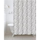 #7: Freelance Value for Money Polyester Bath Shower Bathroom Curtain with 12 hooks, Waterproof, 180 (Width) x 200 (Height) cm
