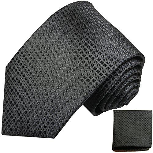 Cravate homme noir ensemble de cravate 2 Pièces ( longueur 165cm )