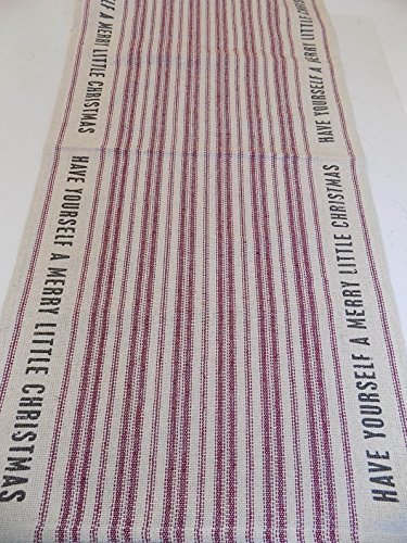 Table Runner Natural With Red Stripes by Primitives By Kathy (Red Christmas Table Runner)