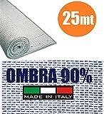 ITALFROM Rotolo 25mt Telone Ombreggiante Frangivista Bianco H 200 per Rete Metallica [cod.4305]