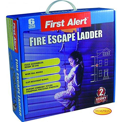 feuerleiter strickleiter Rettungsleiter Feuerleiter First Alert 2 Stockwerke/ Etagen 4,3m Sicherheitsleiter